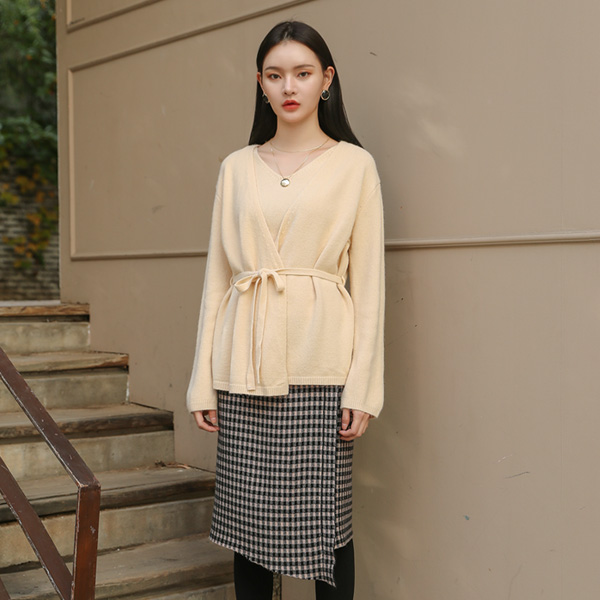 (SK-3180)不规则网格组织裙裙子