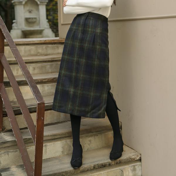 (SK-3195)格子羊毛围巾