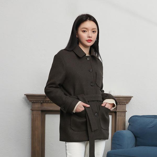 (JK-1968)羊毛单扣口袋外套