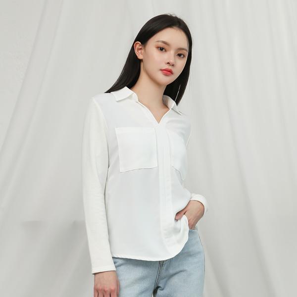 (BL-3209)面料不规则女衬衫