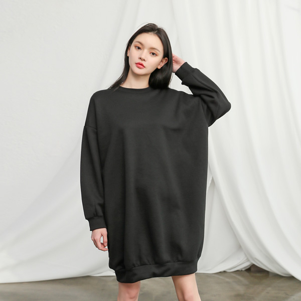 (OP-4198)Basic宽松起毛衣衣裙