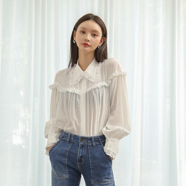 (BL-3219)折叠心情的女人衬衫