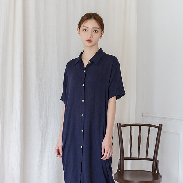 (N-OP-4704)衬衫常规条/束连衣裙S.