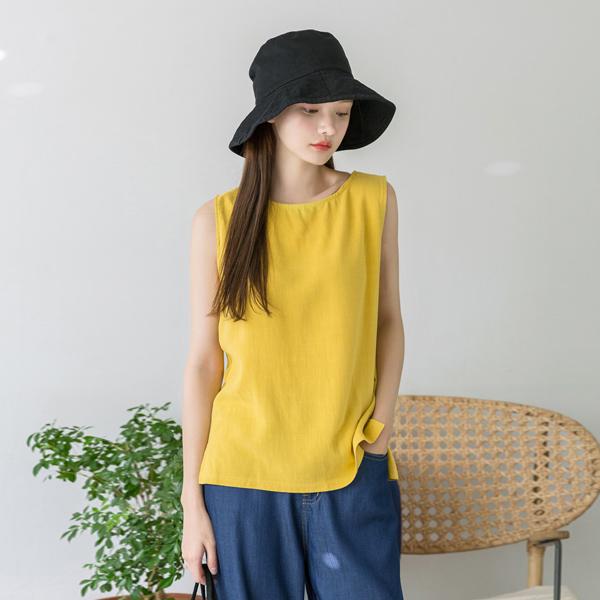 (N-BL-3378)亚麻简单背心/打底衫女衬衫