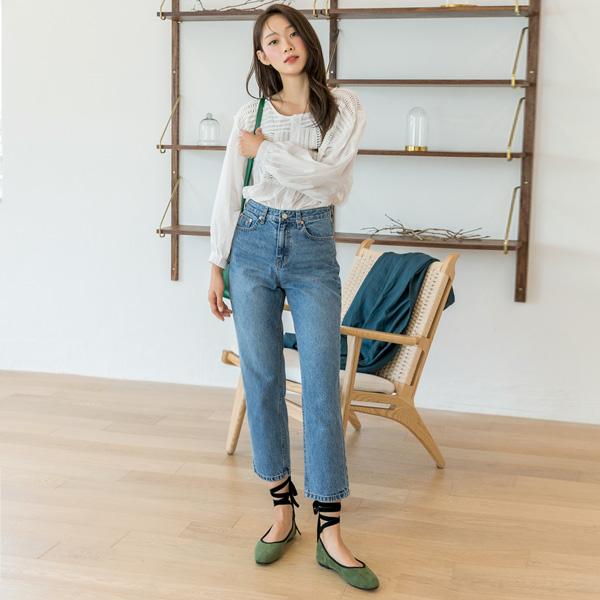 (PT-3900)Tapered Silhouette牛仔色短裤