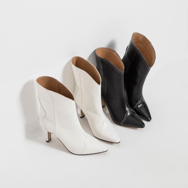 (SH-2860)线条A Western Western脚踝高跟鞋