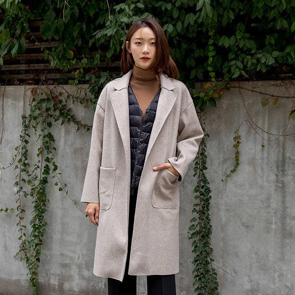 (N-CT-1254)羊毛切口袋Pocket大衣