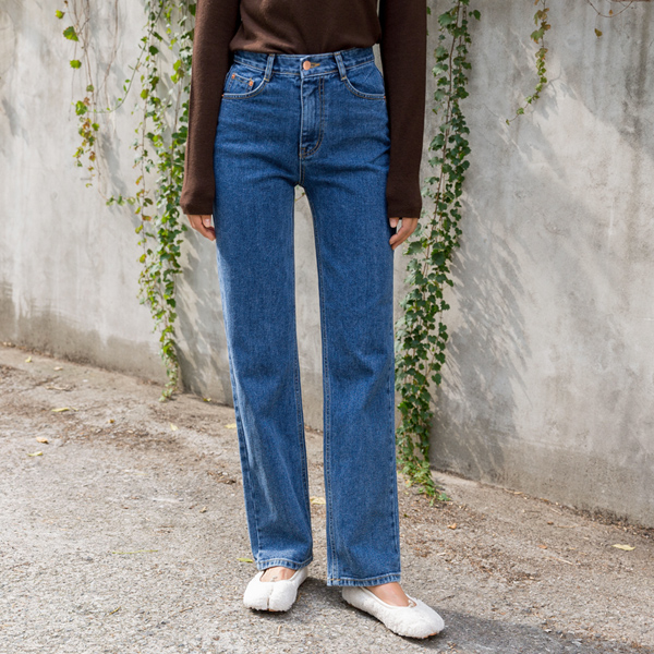 (PT-3980)锥形宽牛仔色短裤